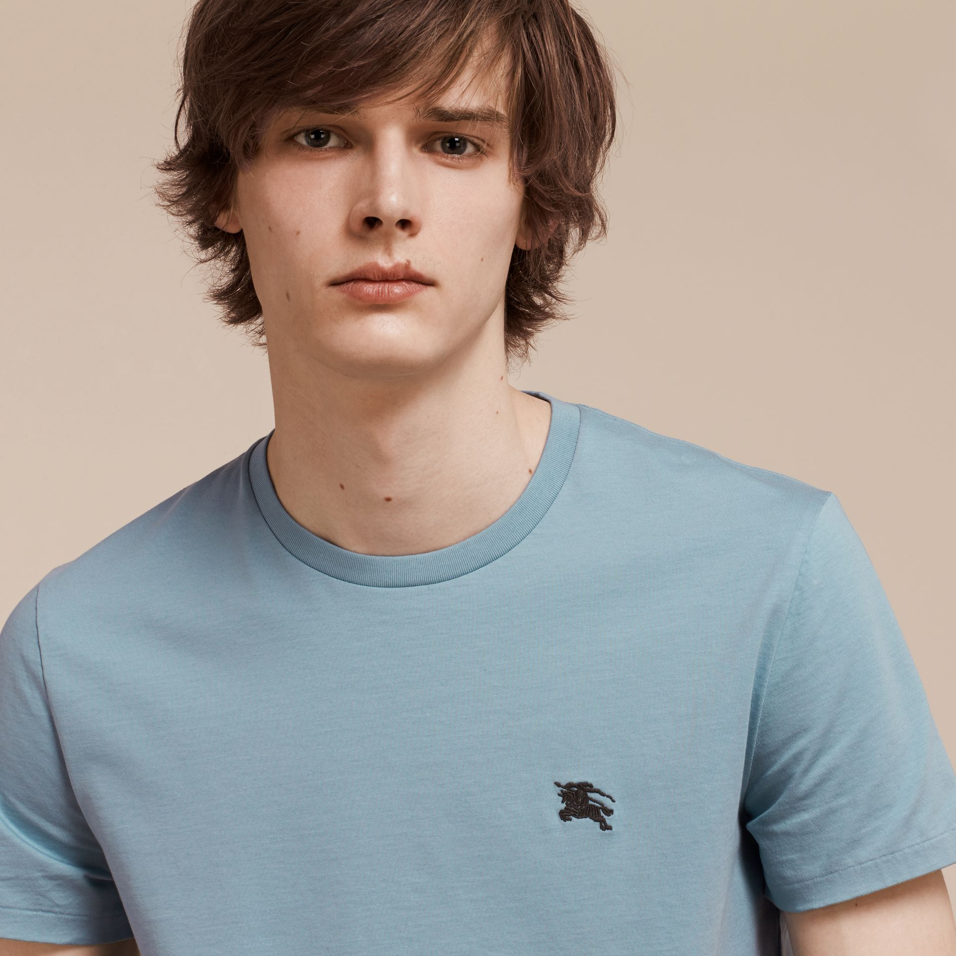 Pale blue Liquid-soft Cotton T-Shirt Pale Blue - gallery image 5