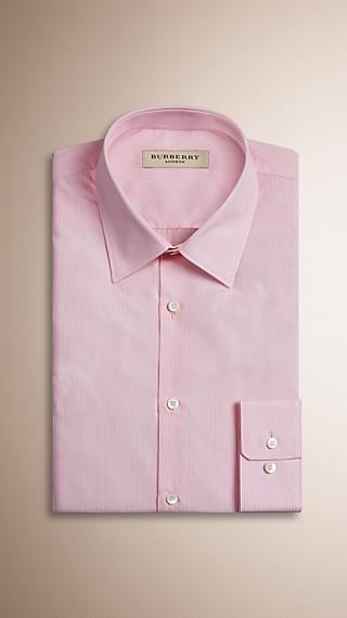 Slim Fit Pinstripe Cotton Shirt