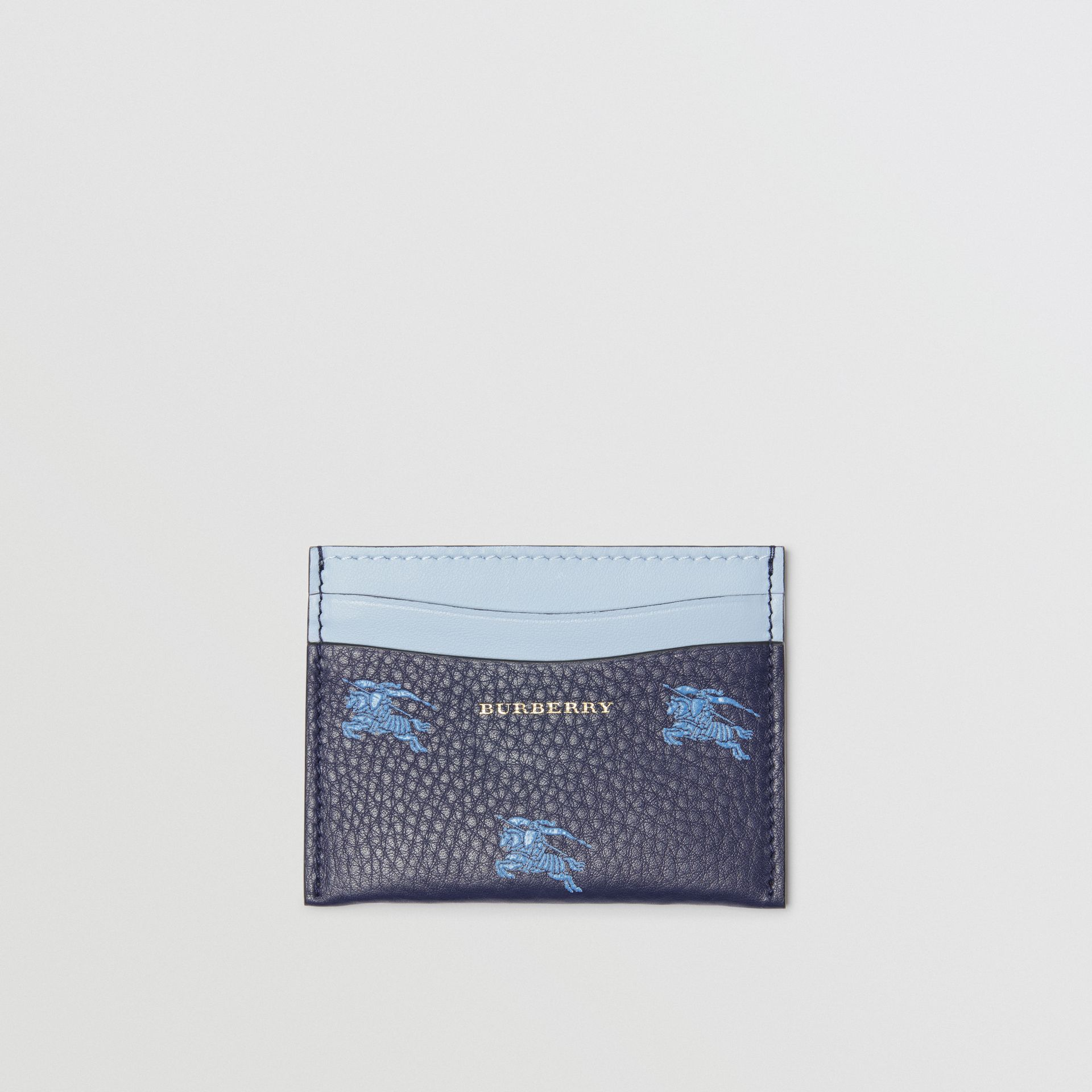 EKD Leather Card Case in Regency Blue - Women | Burberry - gallery image 0