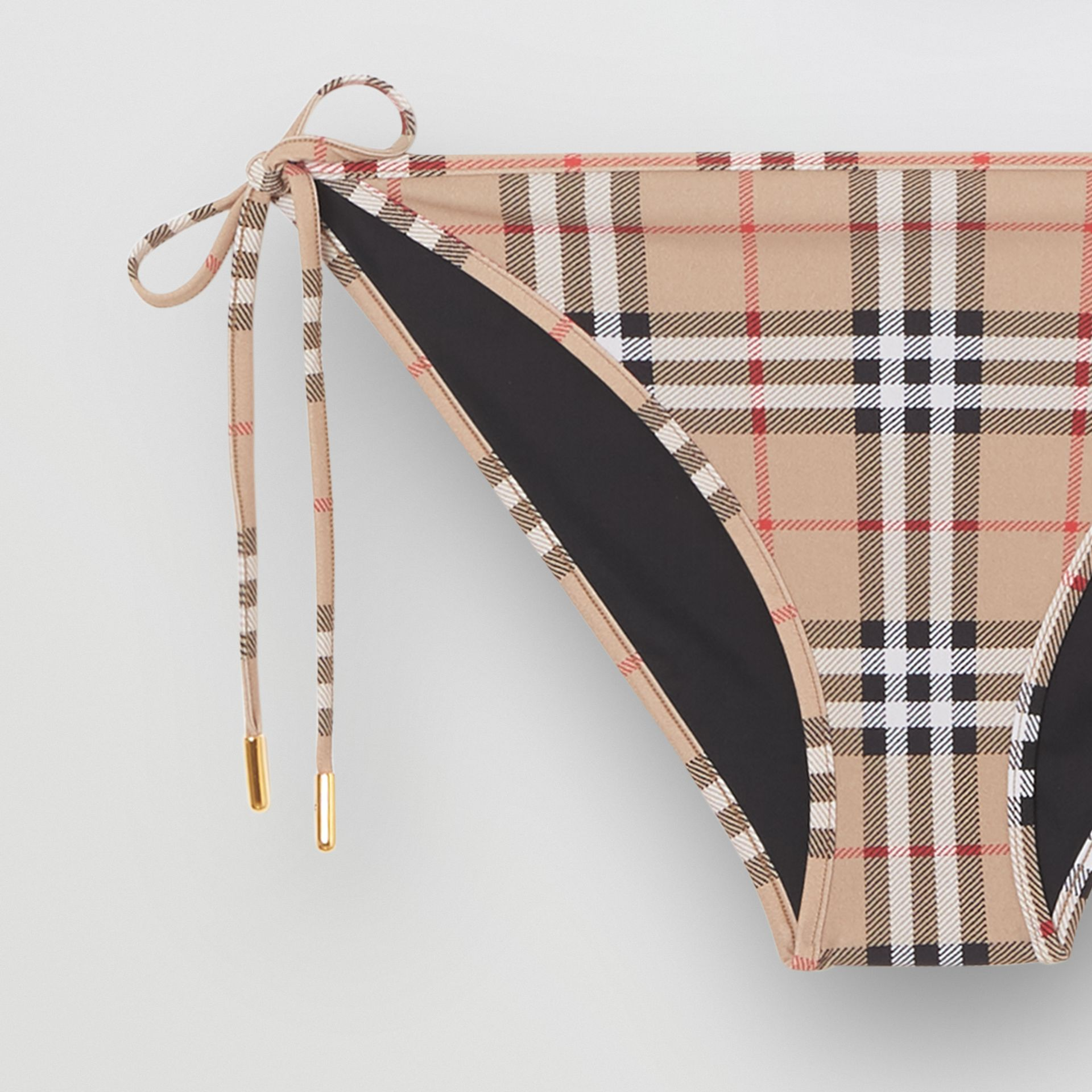 Vintage Check Triangle Bikini in Archive Beige - Women | Burberry Singapore - gallery image 1