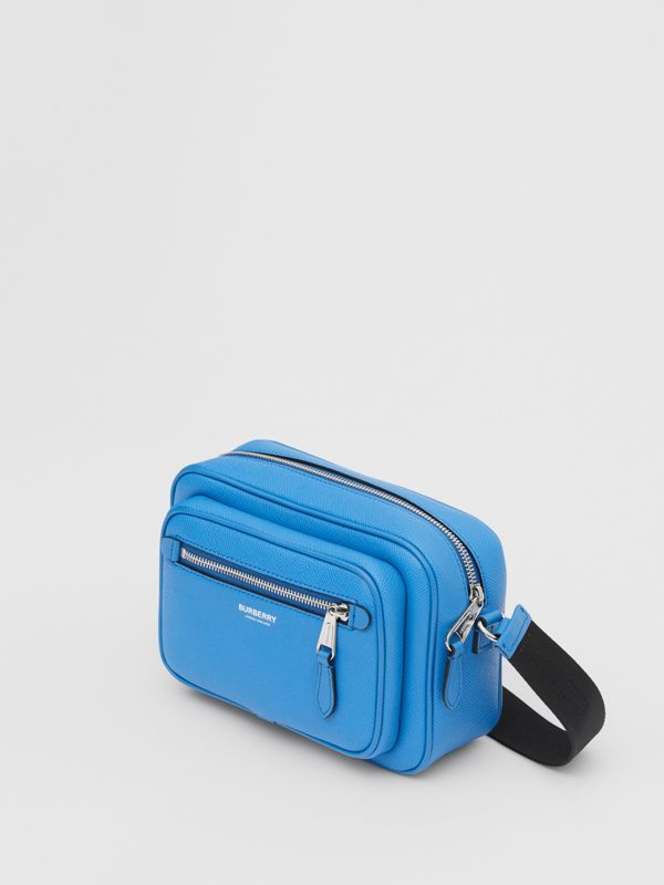 Grainy Leather Crossbody Bag in True Blue - Men | Burberry United Kingdom - cell image 2