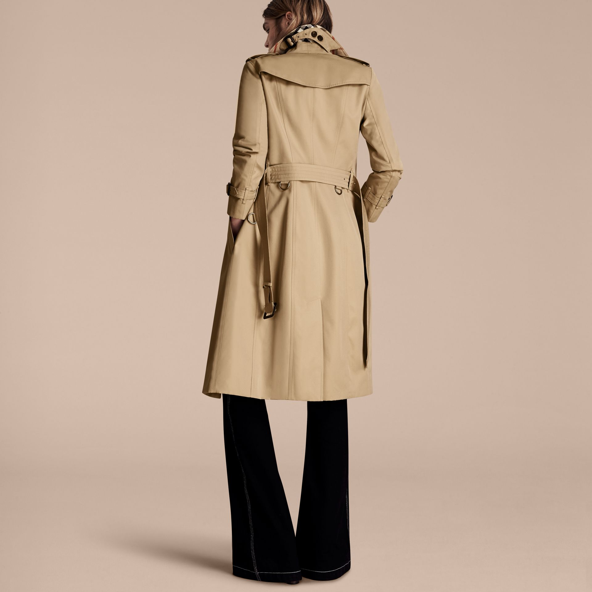 Honey The Sandringham – Extra-long Heritage Trench Coat Honey - gallery image 3