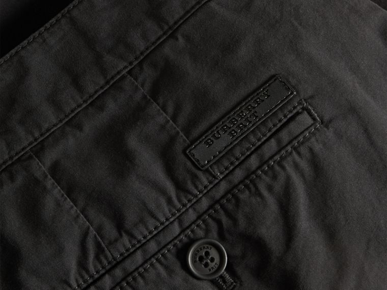Black Cotton Poplin Chino Shorts Black - cell image 1