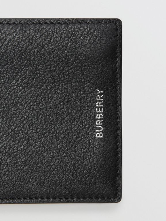 Grainy Leather International Bifold Wallet in Black - Men | Burberry - cell image 1