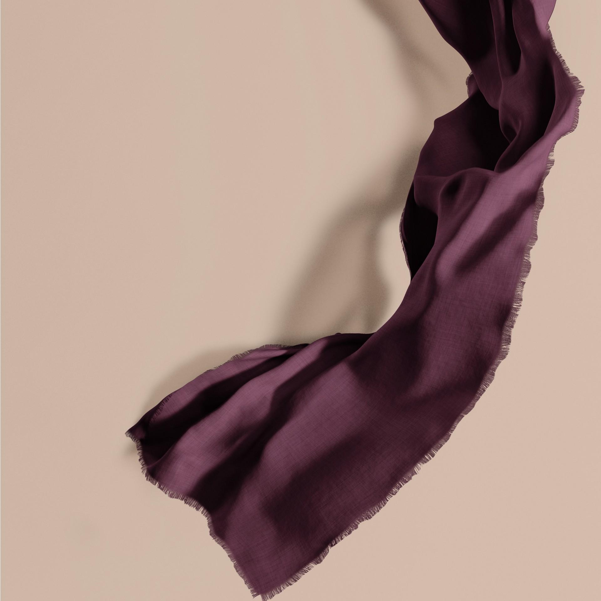 Баклажан Легкий шарф из кашемира Баклажан - изображение 1