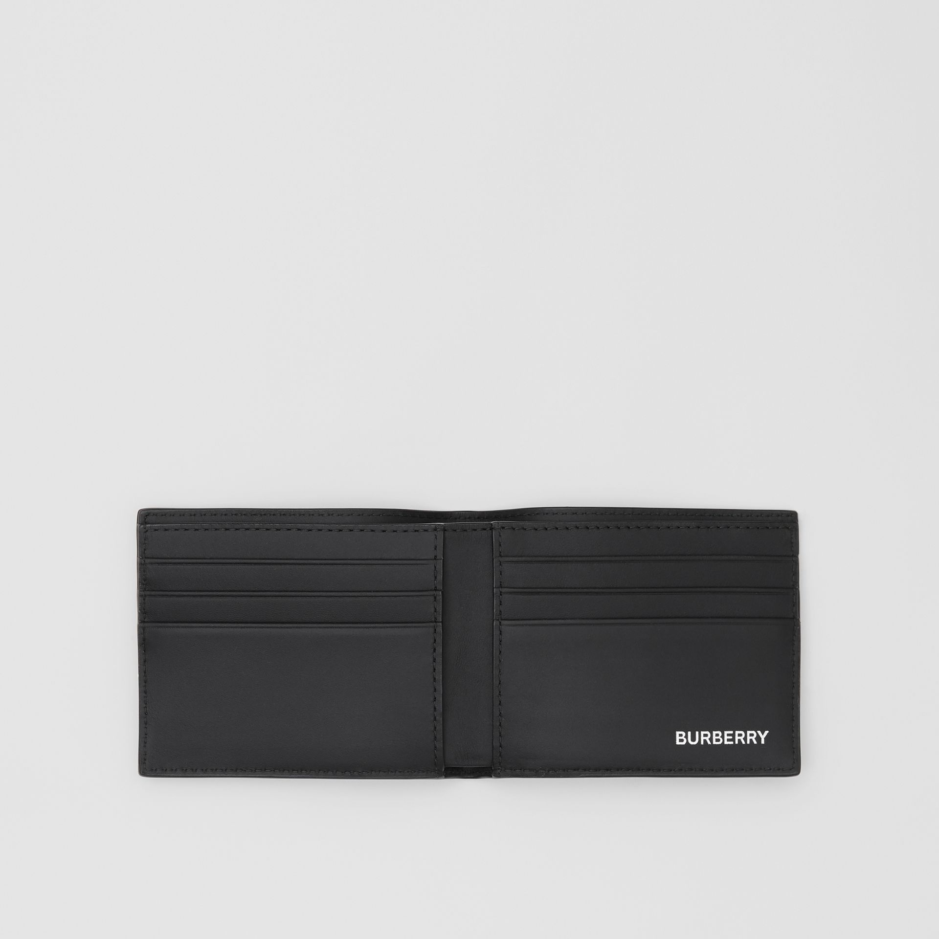 Logo Graphic London Check Bifold Wallet in Dark Charcoal - Men | Burberry - gallery image 2
