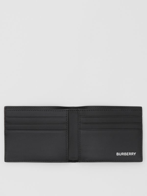 Logo Graphic London Check Bifold Wallet in Dark Charcoal - Men | Burberry United Kingdom - cell image 2