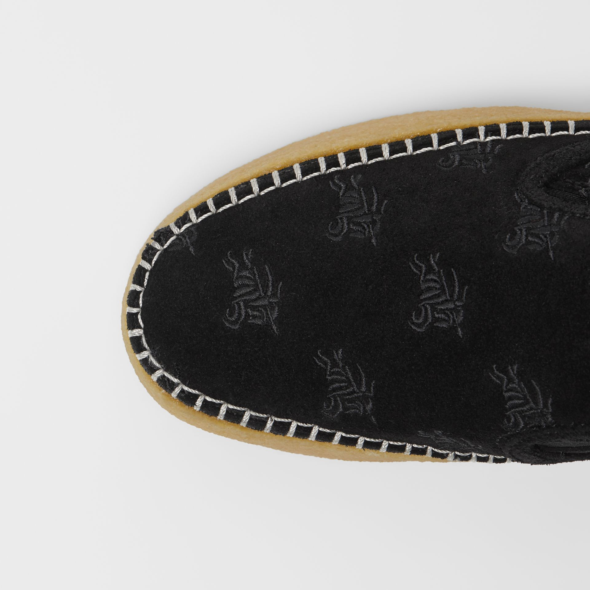 EKD Suede Slip-on Sneakers in Black - Women | Burberry United States - gallery image 1