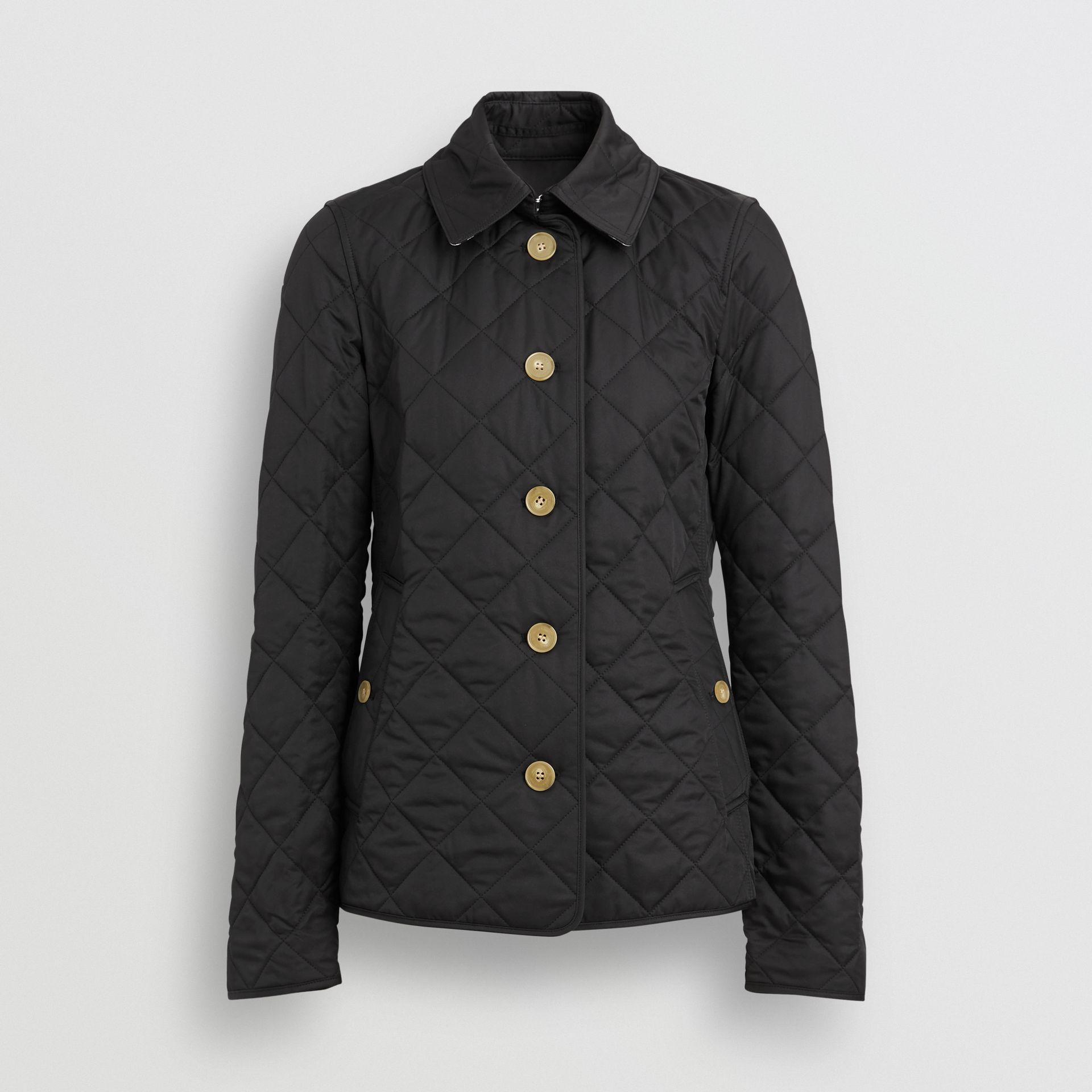 Diamond Quilted Jacket in Black - Women | Burberry Hong Kong S.A.R - gallery image 2