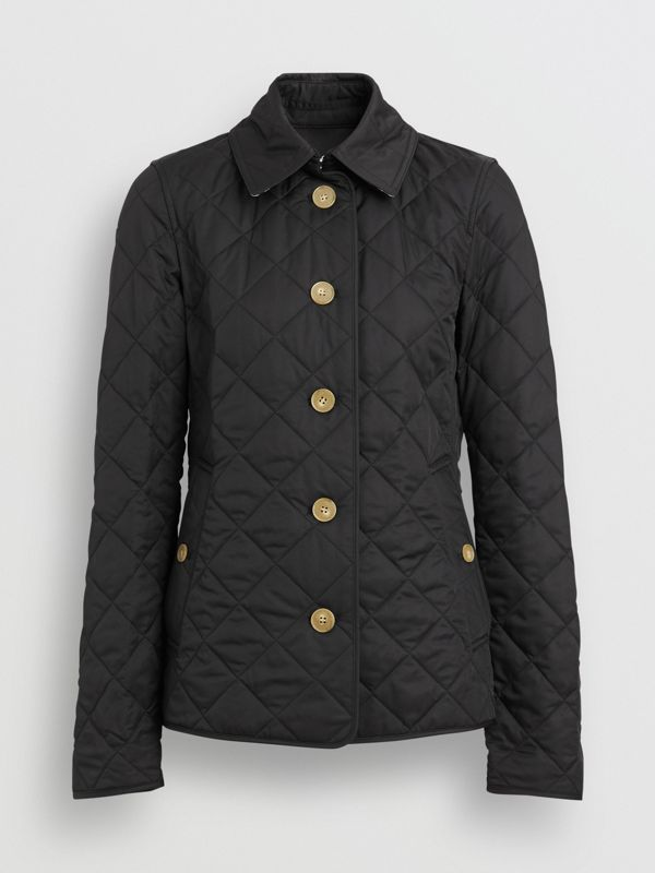Diamond Quilted Jacket in Black - Women | Burberry - cell image 2