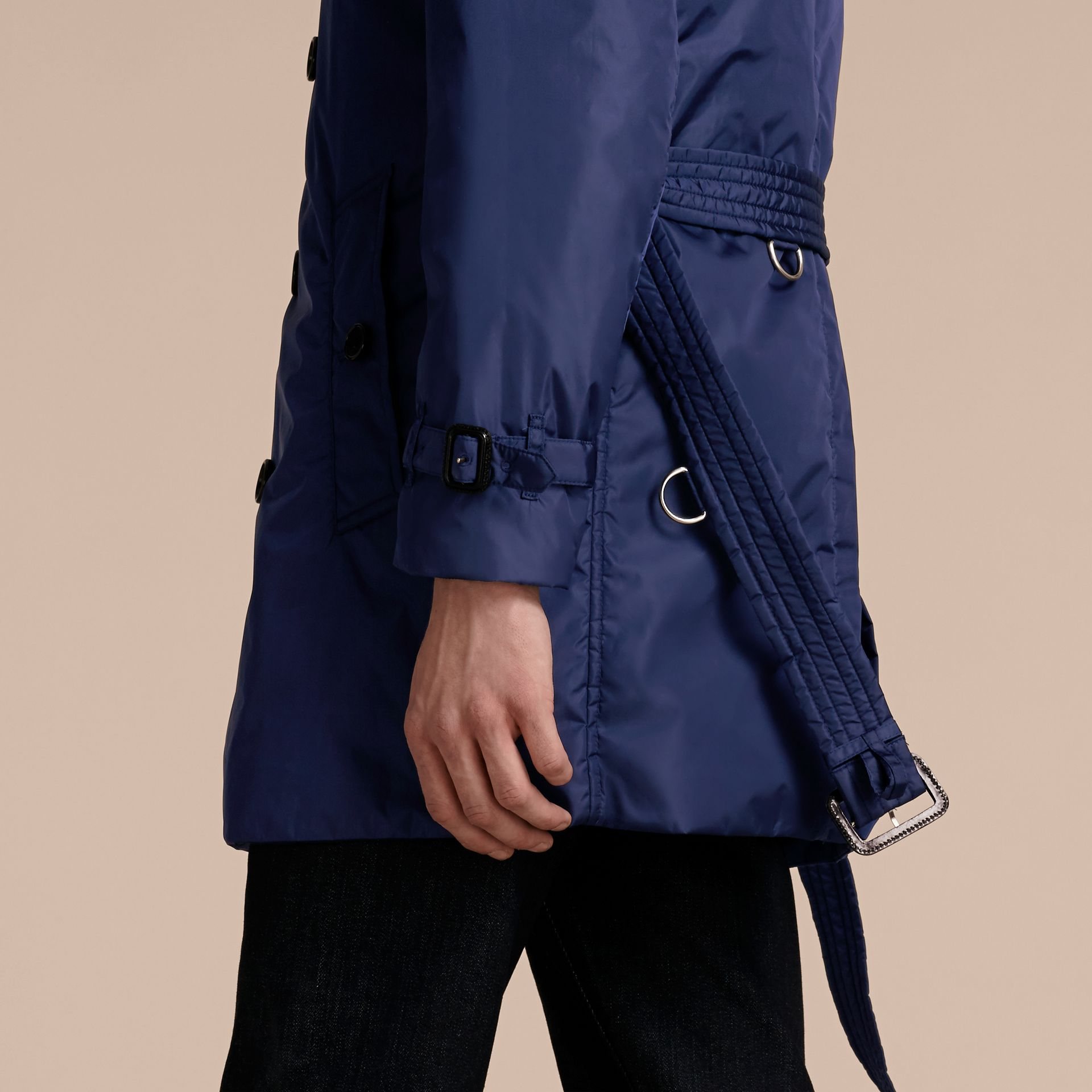 Showerproof Technical Trench Coat with Detachable Warmer - gallery image 6