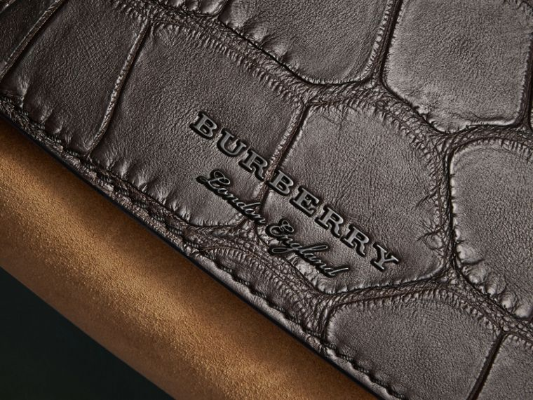 The Small Bridle Bag in Alligator and Suede - Men | Burberry - cell image 1