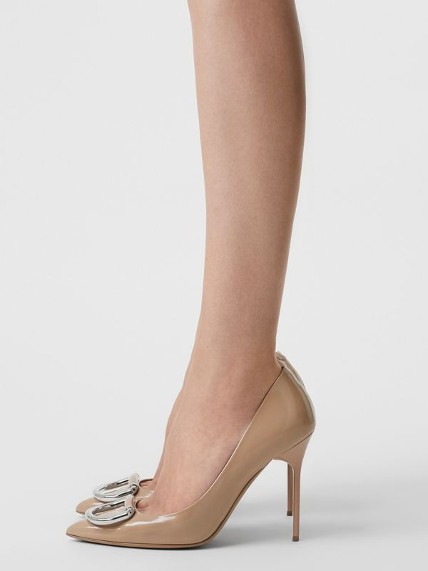 The Leather D-ring Stiletto in Nude Blush - Women | Burberry - cell image 2