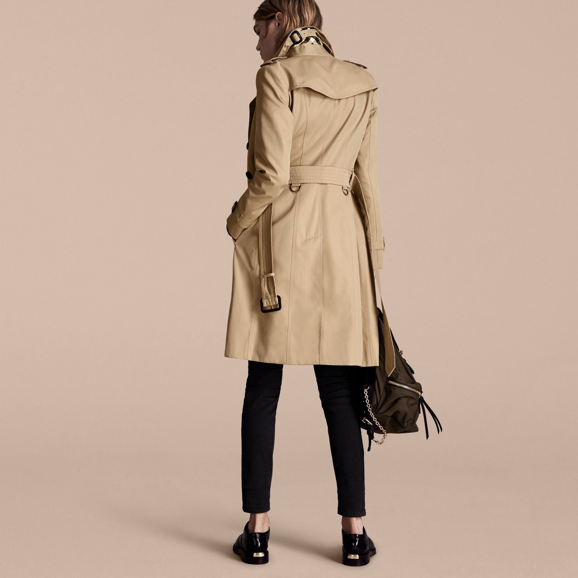 Honey The Chelsea – Long Heritage Trench Coat Honey - gallery image 3