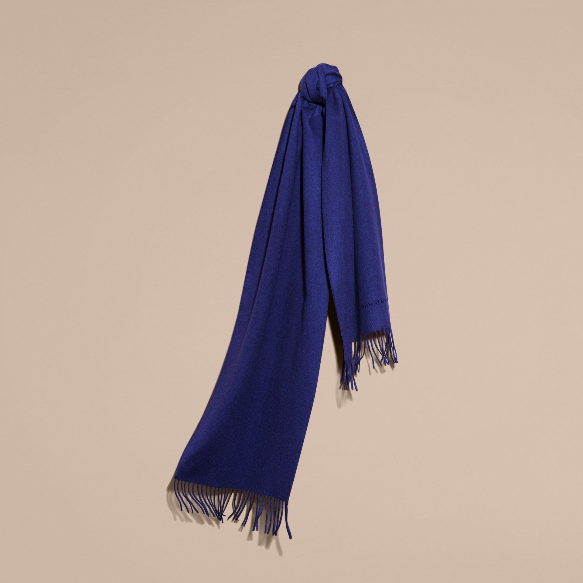 The Classic Cashmere Scarf in Bright Sapphire | Burberry - gallery image 6