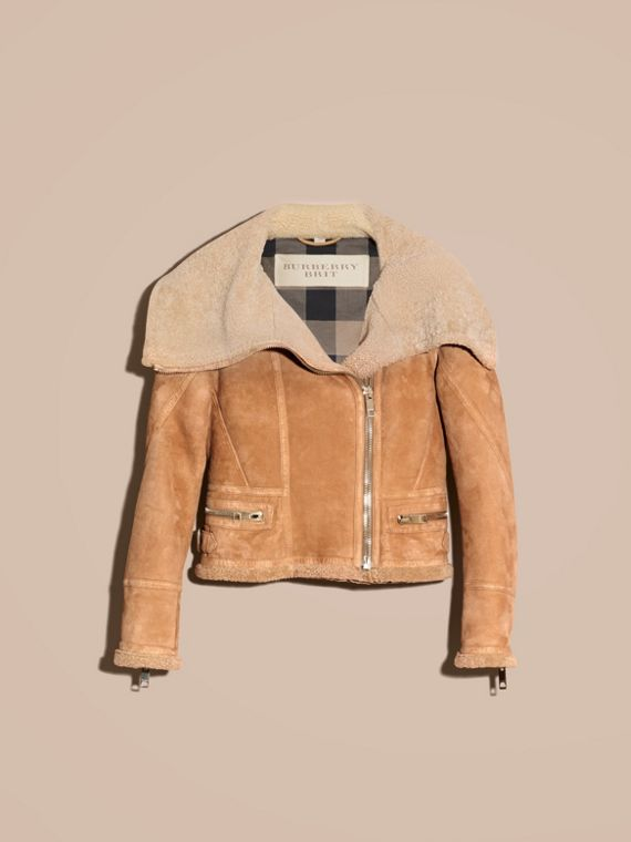 Honey Shearling Aviator Jacket - cell image 3