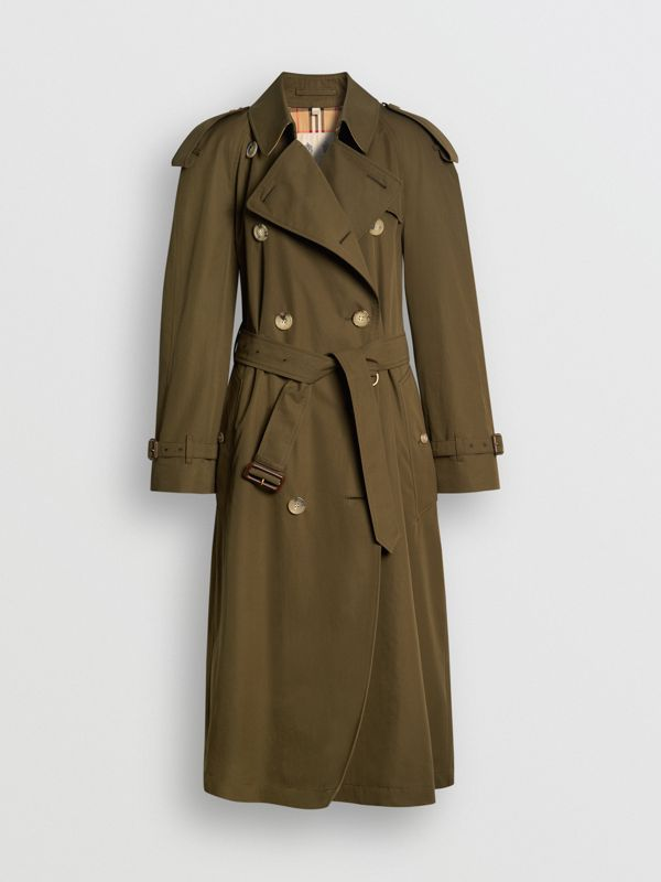 The Westminster 長版 Heritage 系列風衣 (暗軍卡其色) - 女款 | Burberry - cell image 3
