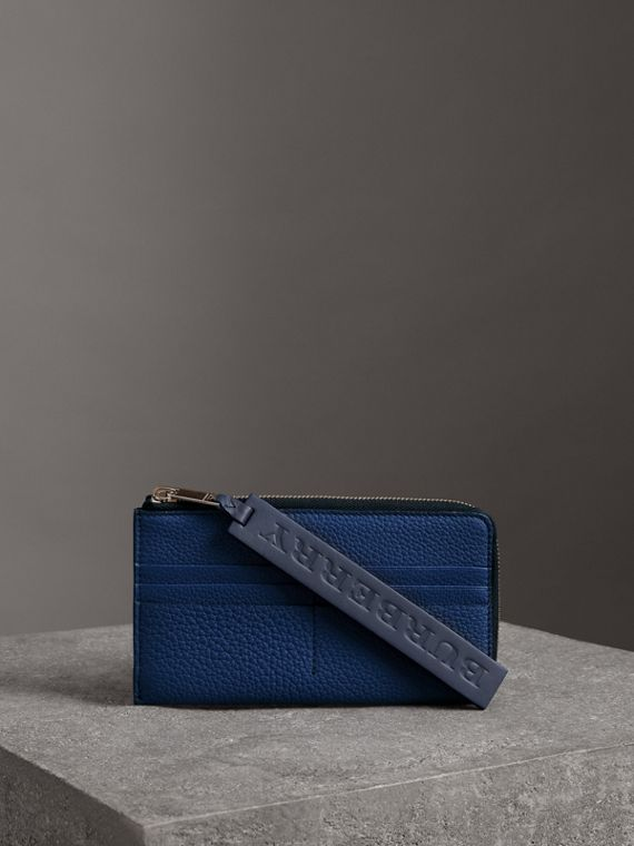 Grainy Leather Phone Case in Bright Ultramarine