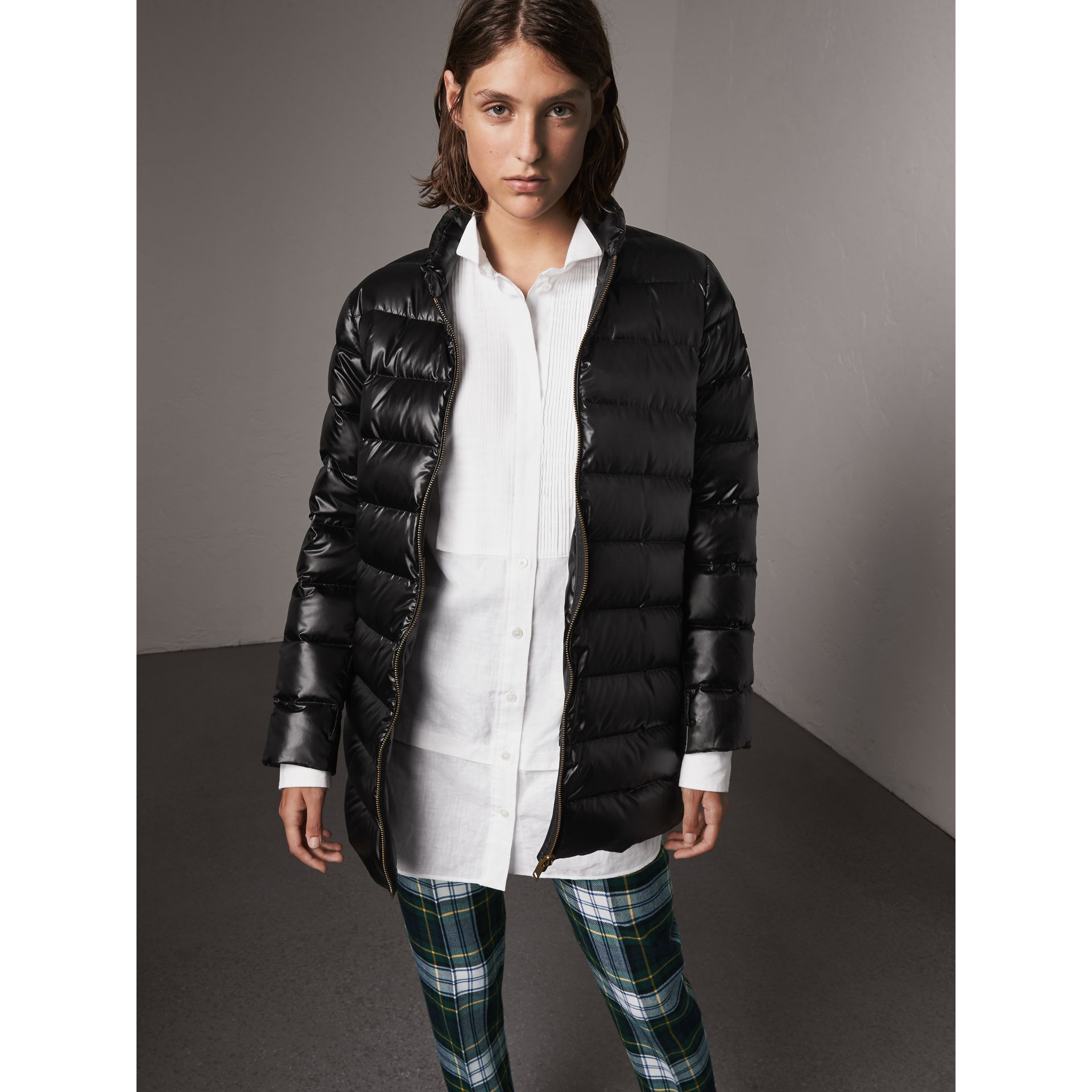 Raccoon Fur and Shearling Trim Parka with Warmer in Black - Women | Burberry - gallery image 5