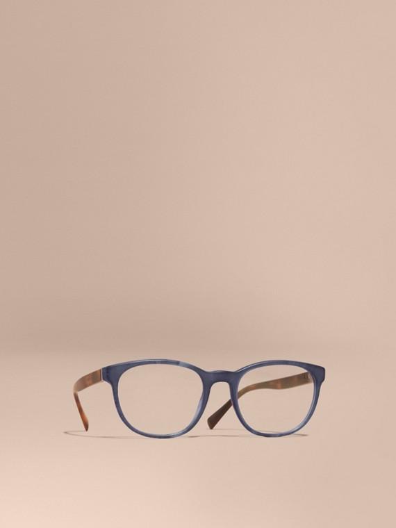 Brille mit eckigem Gestell Tiefblau