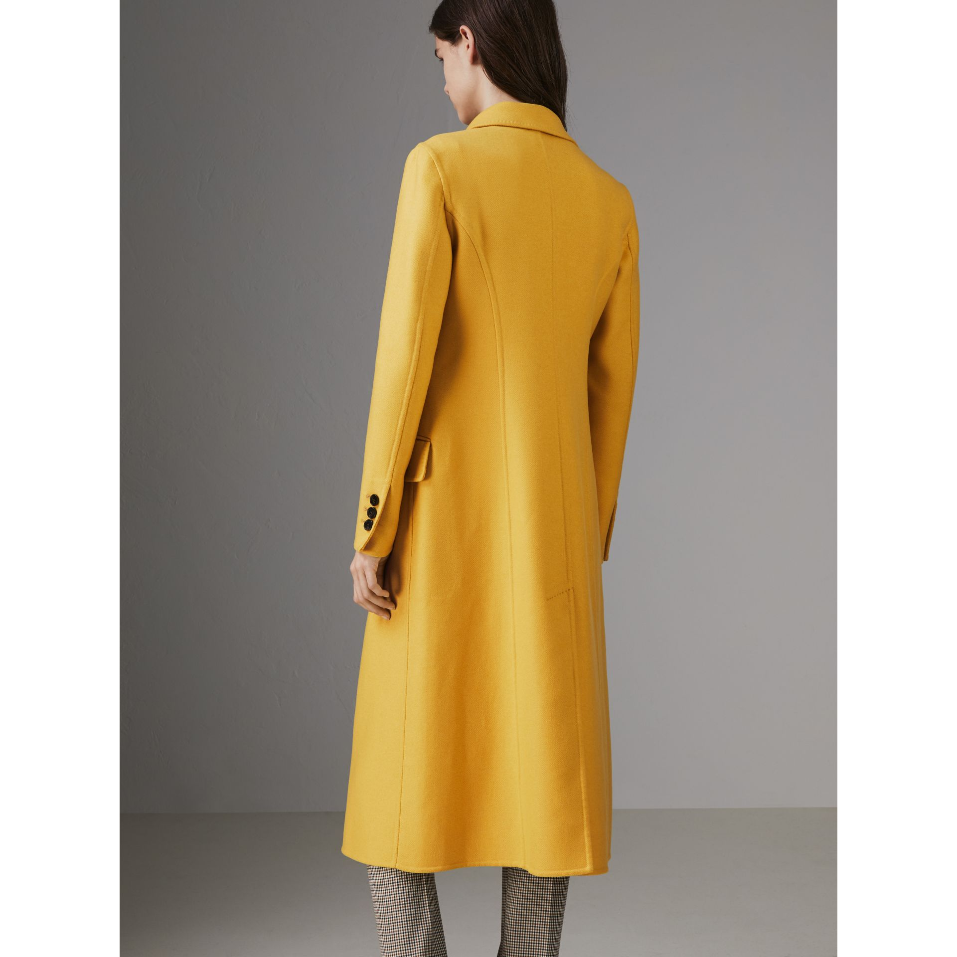 Double-breasted Cashmere Tailored Coat in Ochre Yellow - Women | Burberry Australia - gallery image 2