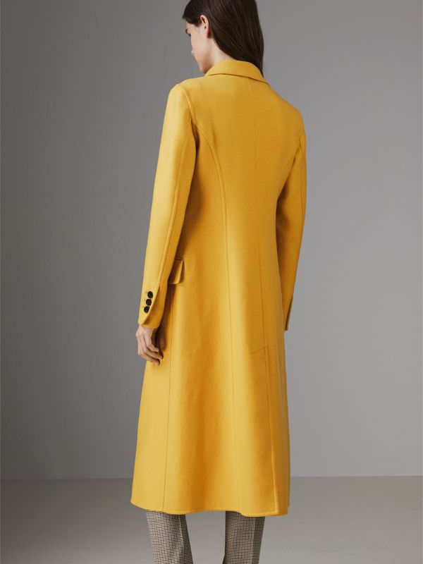 Double-breasted Cashmere Tailored Coat in Ochre Yellow - Women | Burberry Canada - cell image 2