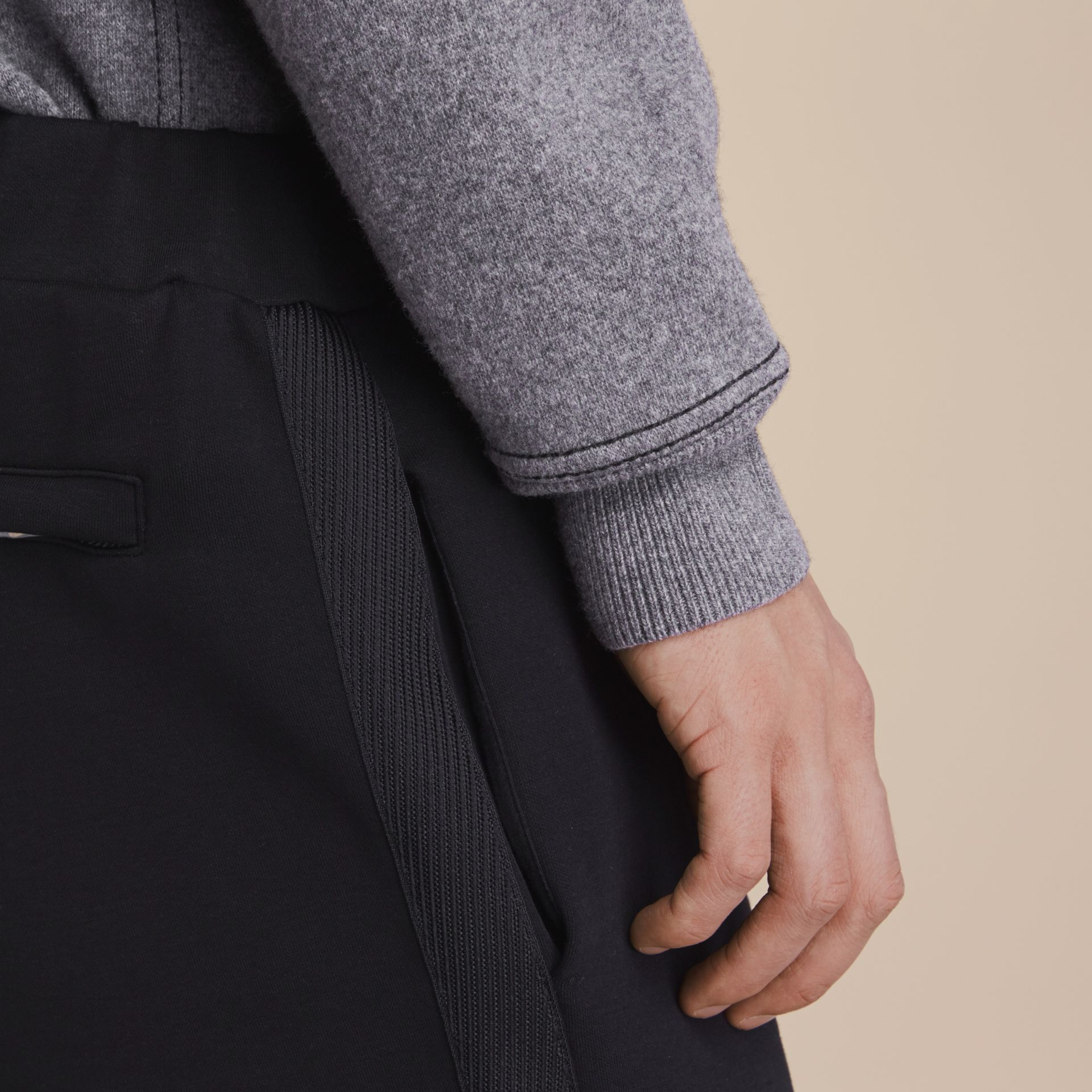 Cotton Blend Knit Sweat Pants - gallery image 5