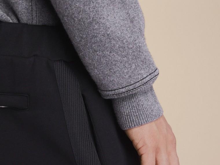Cotton Blend Knit Sweatpants - cell image 4