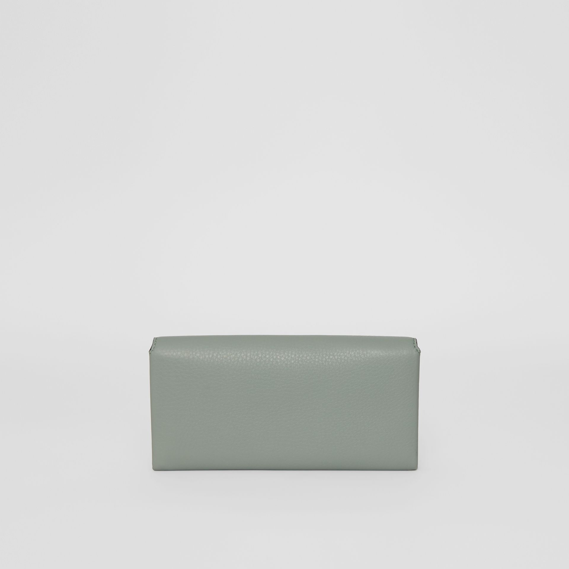 Two-tone Leather Continental Wallet in Grey Blue - Women | Burberry Singapore - gallery image 2