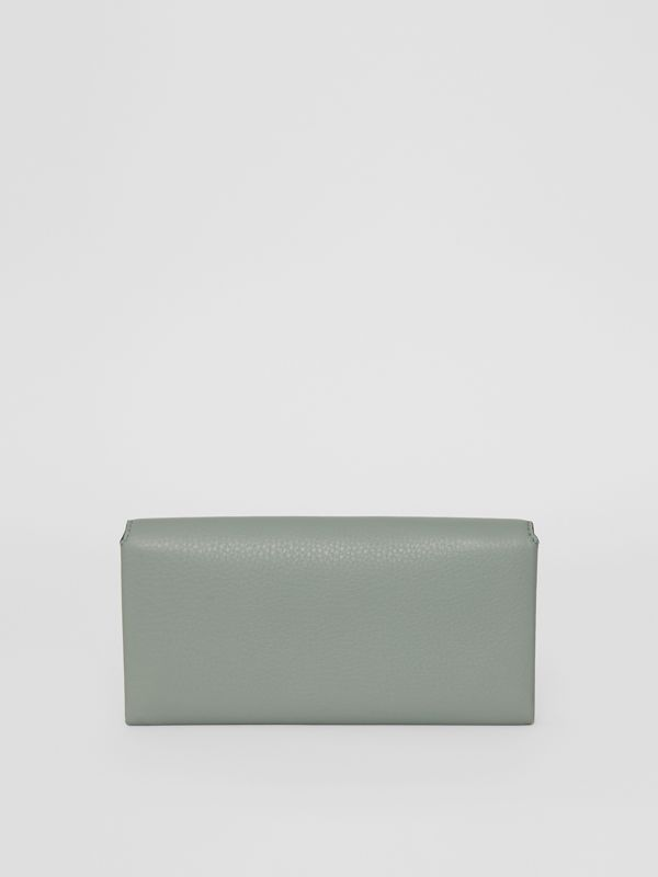 Two-tone Leather Continental Wallet in Grey Blue - Women | Burberry Canada - cell image 2