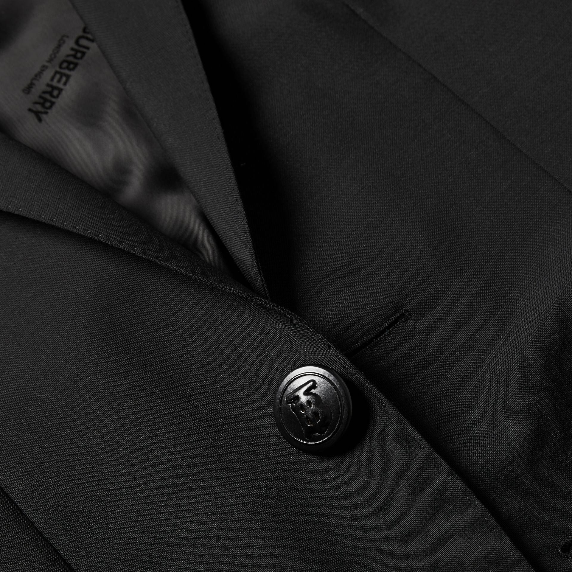 English Fit Wool Mohair Tailored Jacket in Black - Men | Burberry - gallery image 7