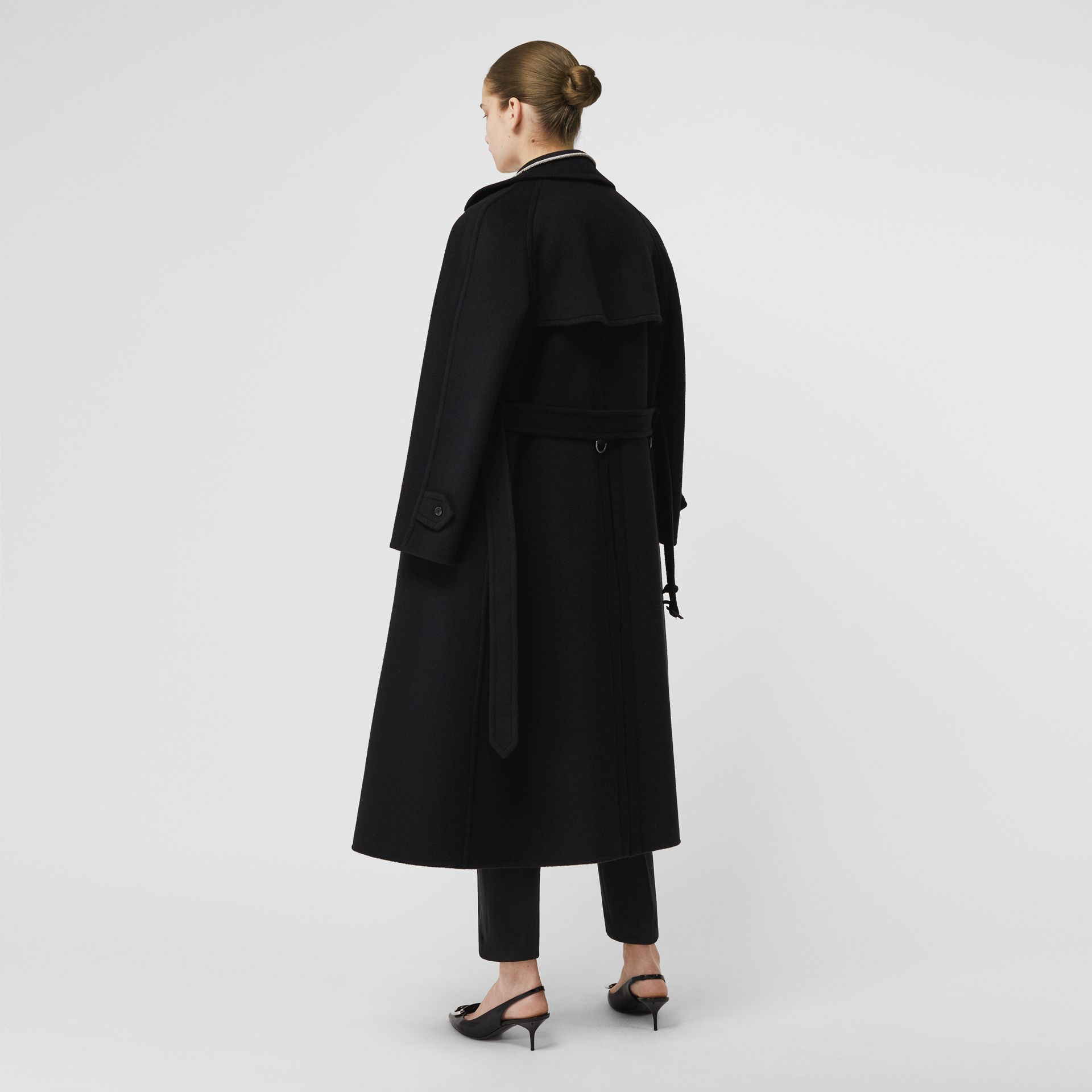 Double-faced Cashmere Tailored Coat in Black - Women | Burberry Australia - gallery image 2