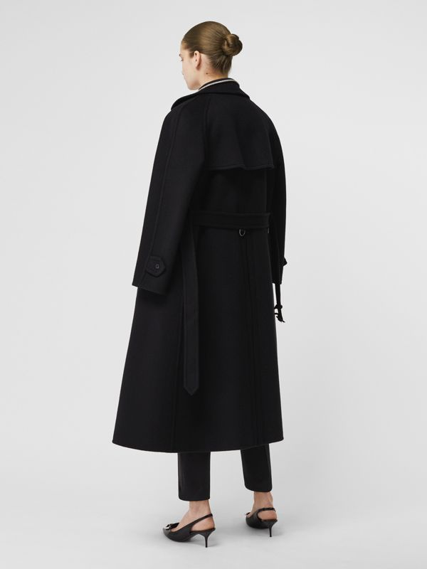 Double-faced Cashmere Tailored Coat in Black - Women | Burberry Australia - cell image 2