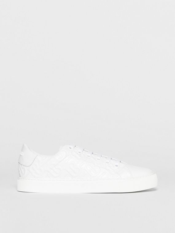 Monogram Leather Sneakers in White