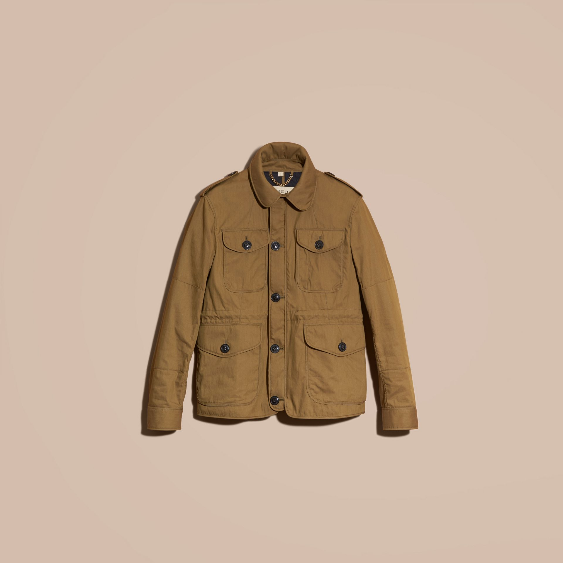 Military khaki Utility Pocket Field Jacket - gallery image 4