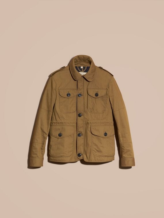 Military khaki Utility Pocket Field Jacket - cell image 3
