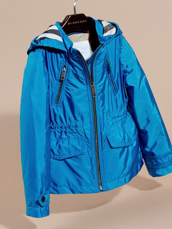 Hooded Packaway Technical Jacket Hydrangea Blue - cell image 2
