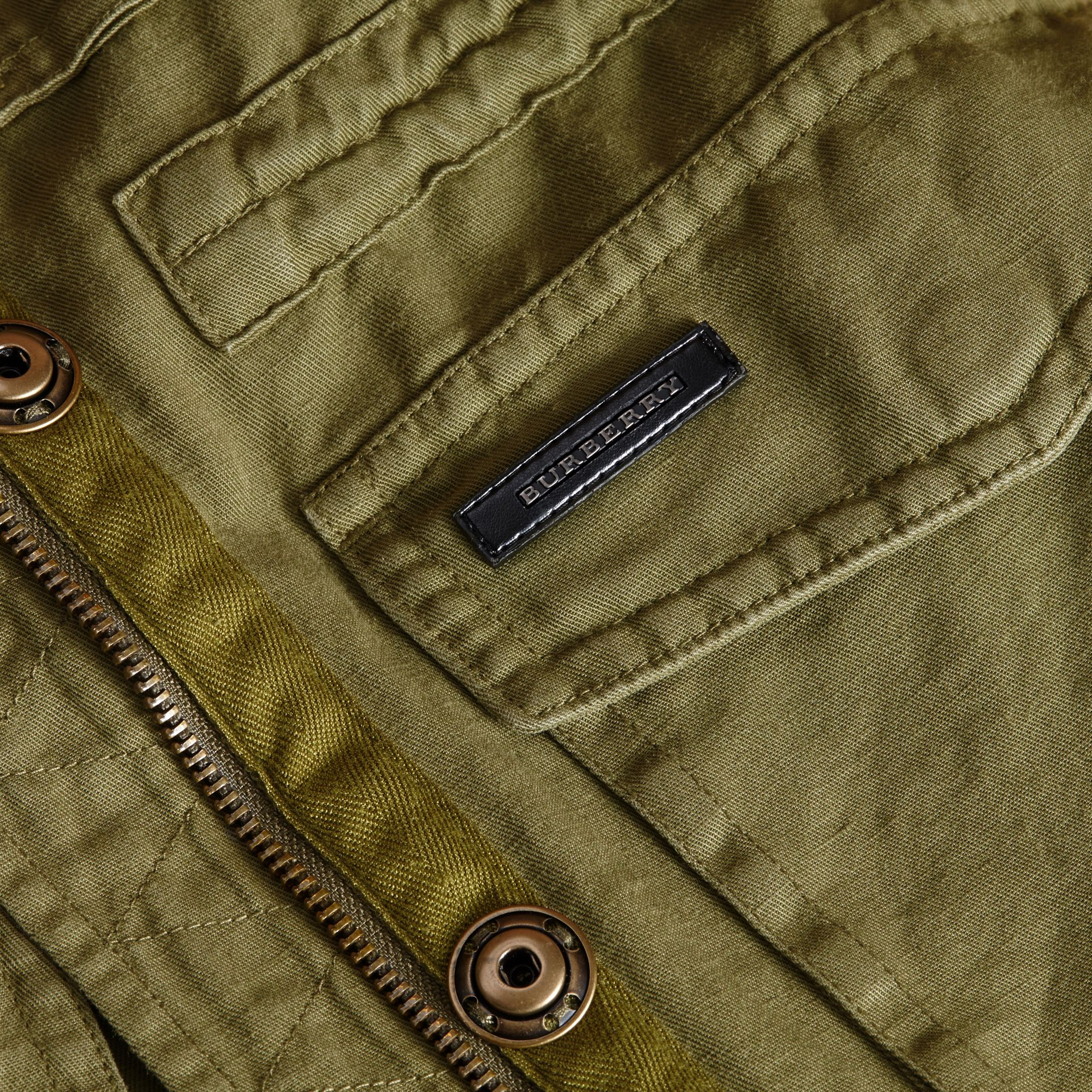 Hooded Cotton Linen Parka - gallery image 2