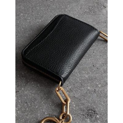 Link Detail Leather Ziparound Wallet - Black Burberry RaCZfhT