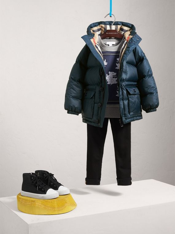 Shower-resistant Hooded Puffer Jacket - Boy | Burberry