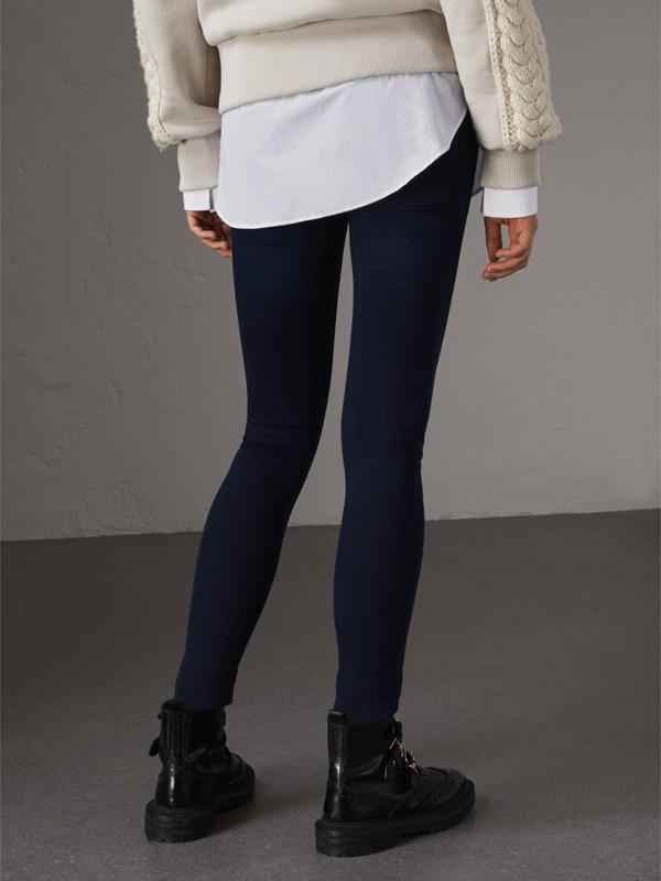 Skinny Fit Power-stretch Denim Jeans in Dark Indigo - Women | Burberry United Kingdom - cell image 2