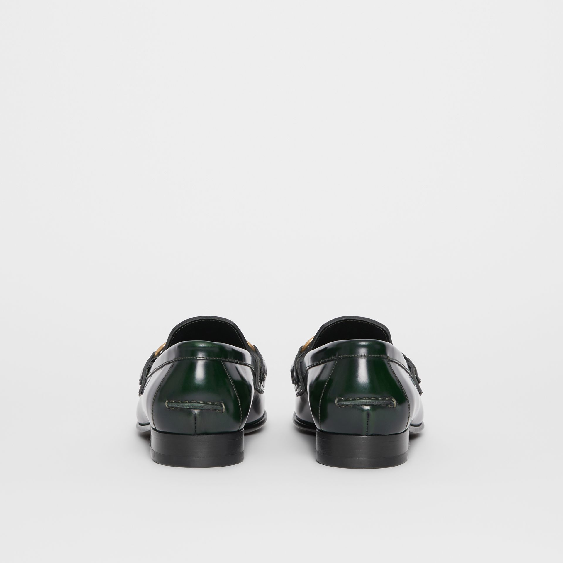 The Leather Link Loafer in Deep Green - Women | Burberry United States - gallery image 4