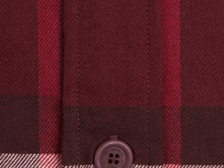 Claret Check Cotton Flannel Shirt Claret - cell image 1