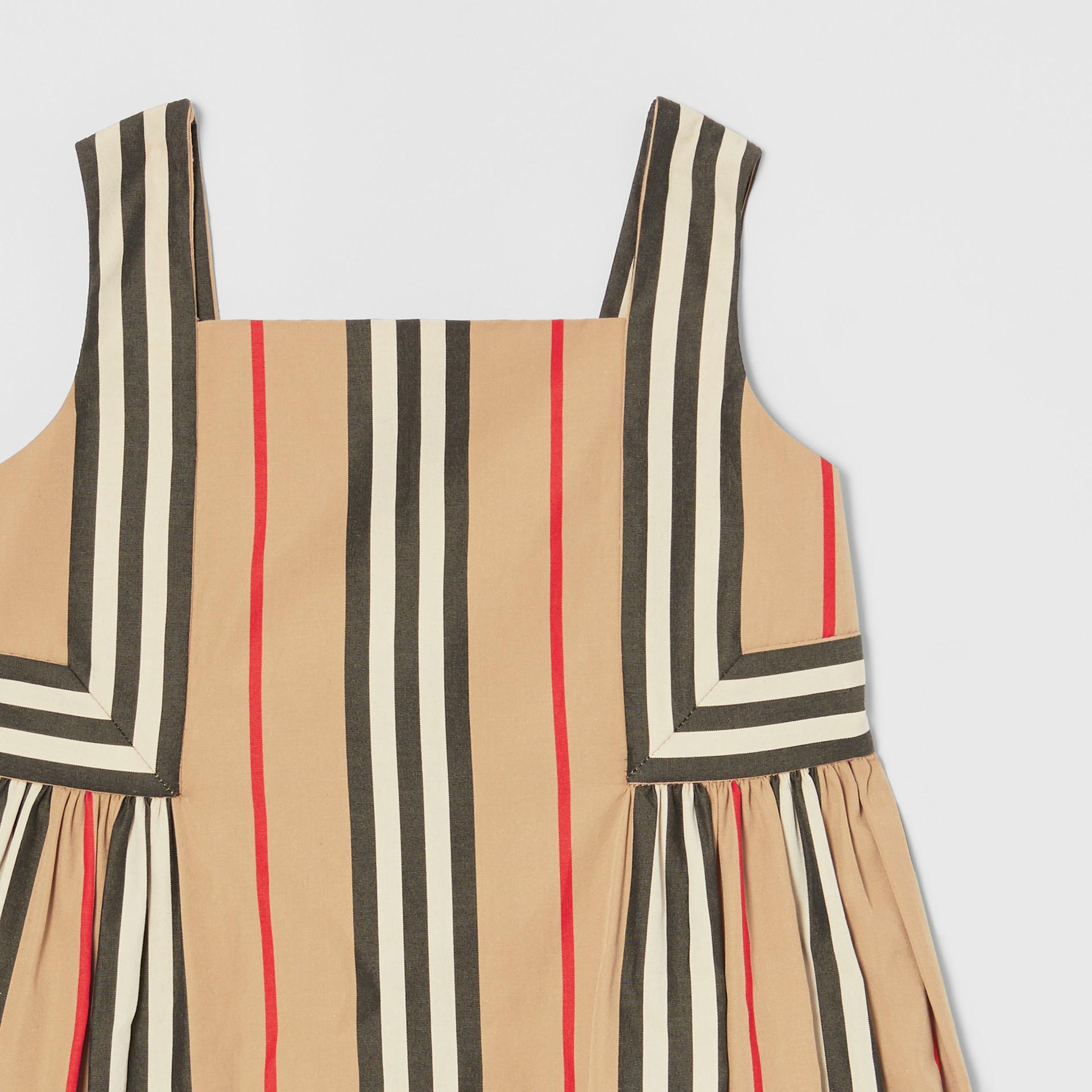 Icon Stripe Cotton Poplin Dress in Archive Beige - Children | Burberry United States - gallery image 4