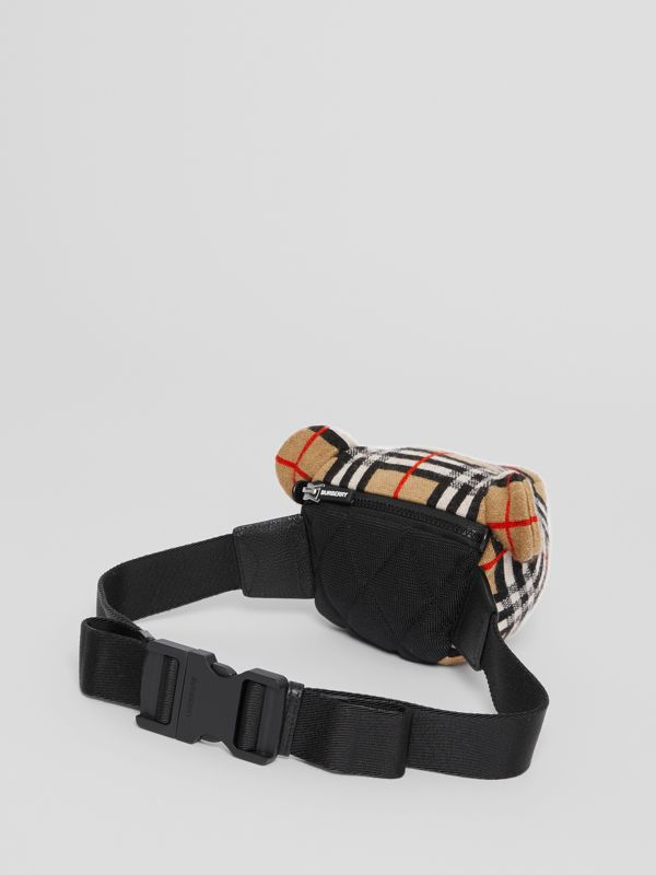 Thomas Bear Vintage Check Merino Wool Bum Bag in Archive Beige - Children | Burberry - cell image 2