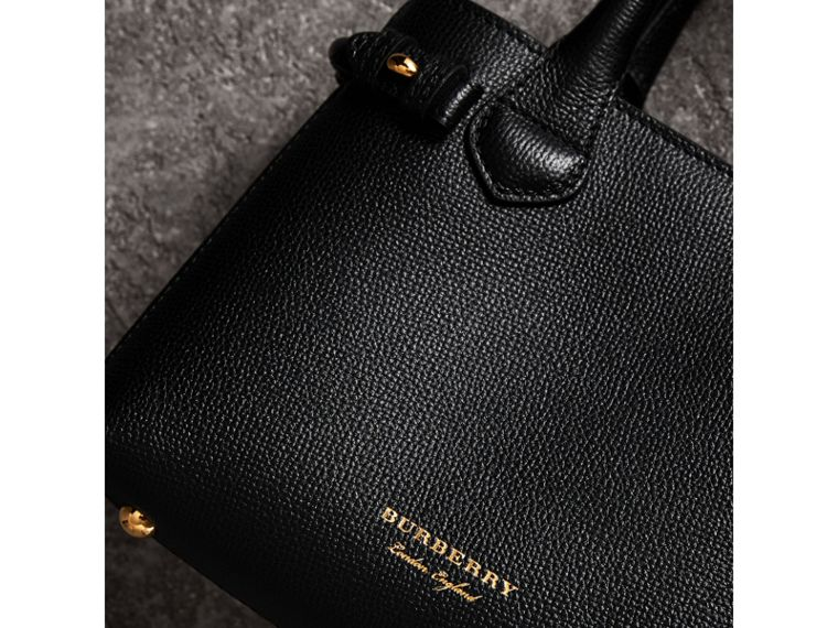 The Baby Banner in Leather and House Check in Black - Women | Burberry Australia - cell image 1