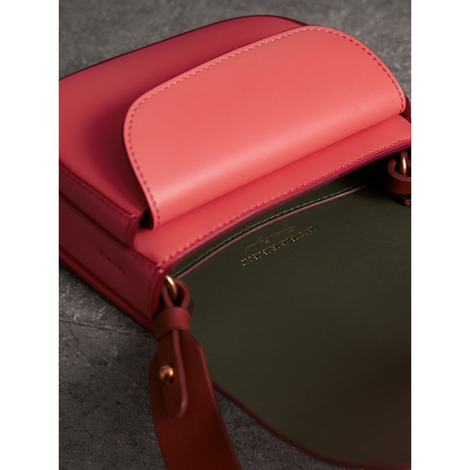 The Satchel in Leather in Bright Peony - Women | Burberry - gallery image 5