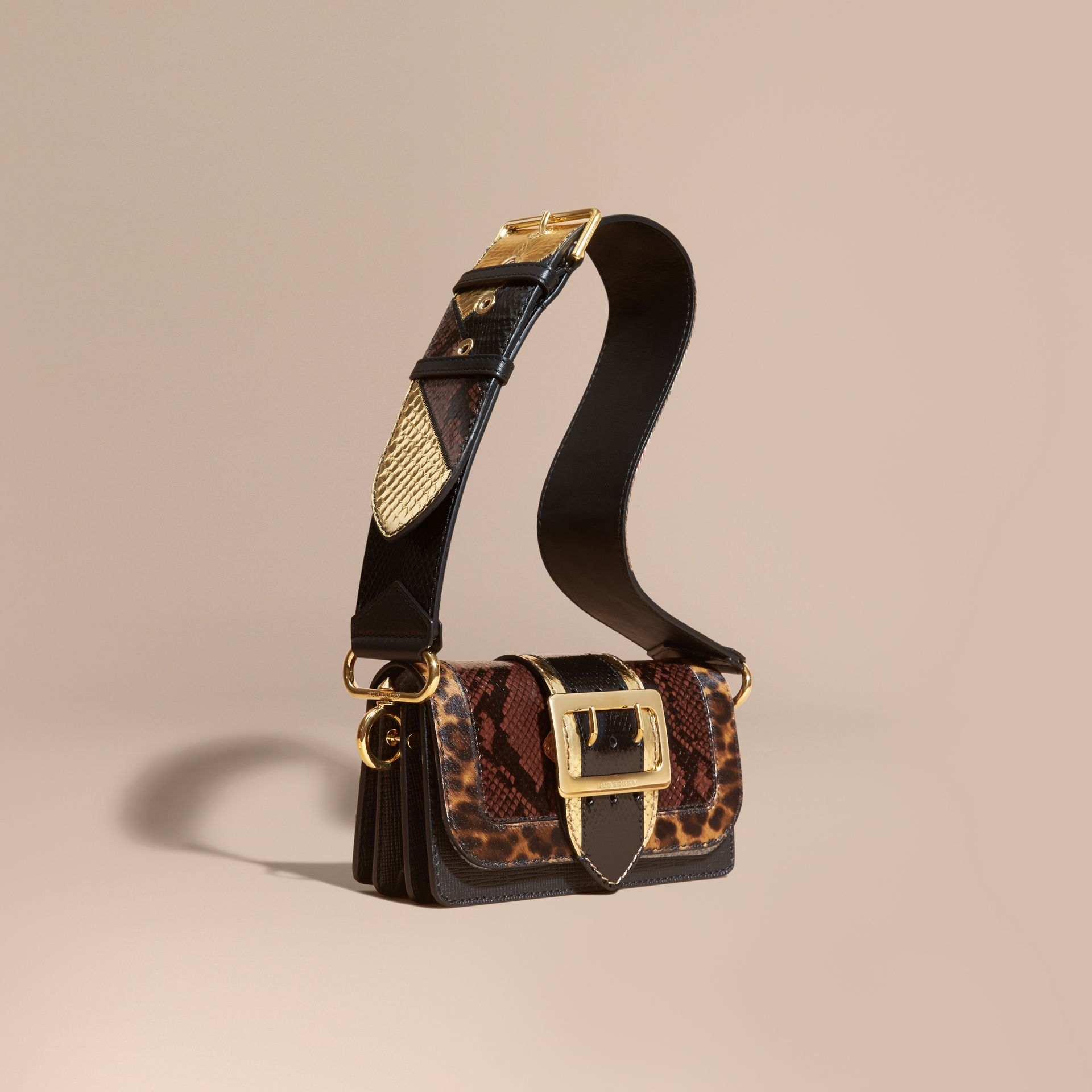 Black/gold The Patchwork in Snakeskin and Textured Leather - gallery image 1