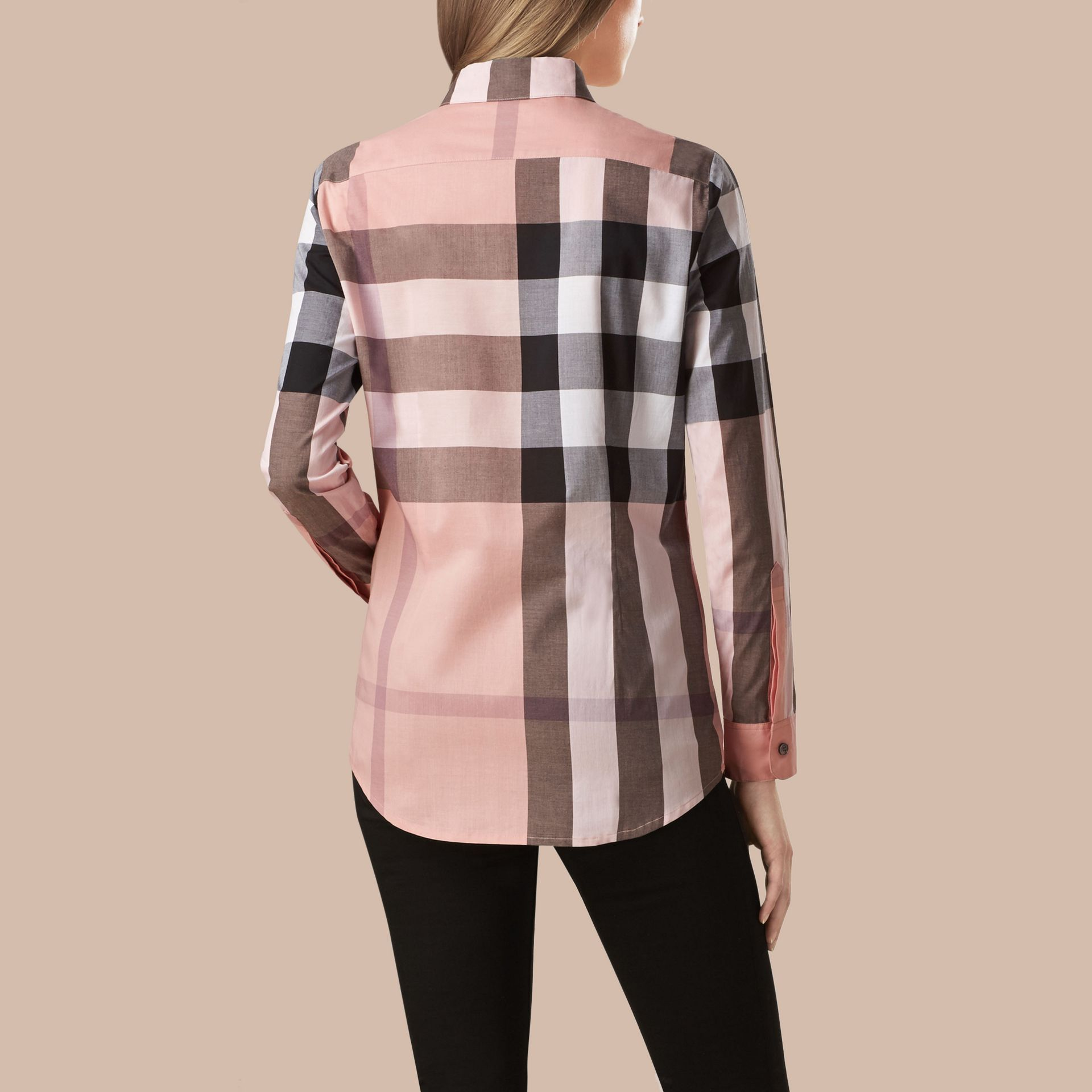 Antique pink Check Cotton Shirt Antique Pink - gallery image 3