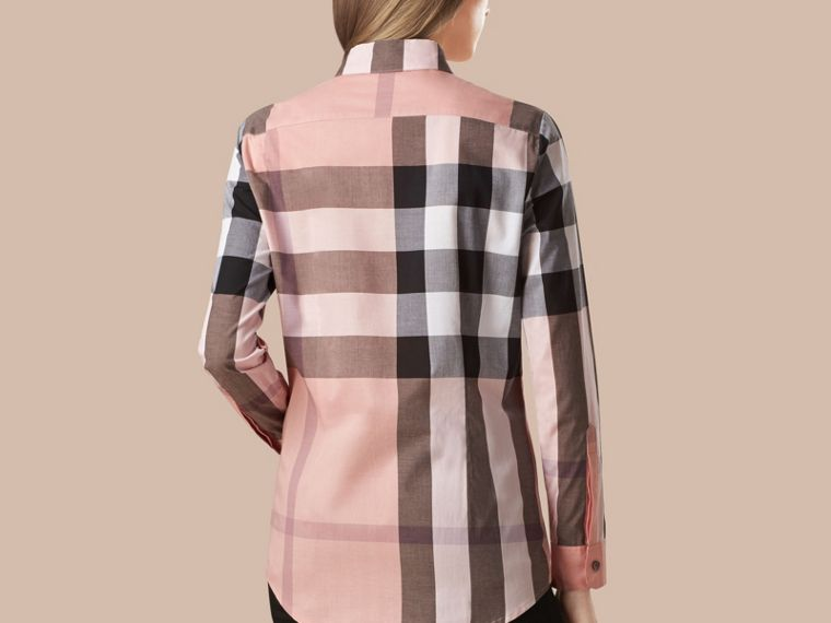 Check Cotton Shirt in Antique Pink - cell image 2